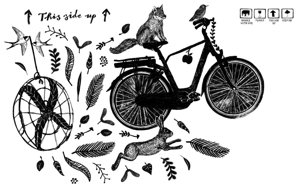 Fietsdoos illustratie van Anne Olde Kalter
